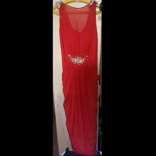 Red Grecian Gown For RENT/SALE