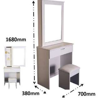 Dressing table with stool.