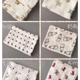 新生嬰兒童寶寶纯棉/柔軟浴巾大方巾蓋被被毯抱毯小被子