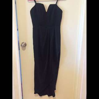 Luvalot Black Silky Pensive Long Formal Dress Size 12
