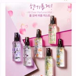 韓國超人氣 MISSHA 身體香氛噴霧香水