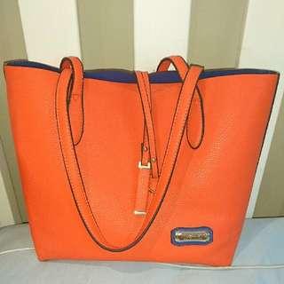 Orange Tote Serenade Beverley Hills Collection