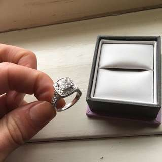 White Gold Micheal Hill Ring.