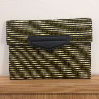 MANGO Cecile Clutch (yellow)