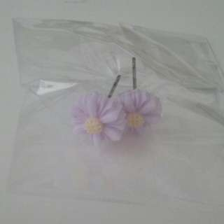 Cute Purple Daisy Earrings