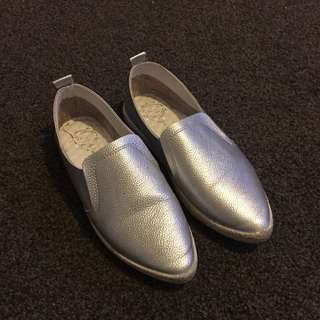 Silver Pointy Shoes