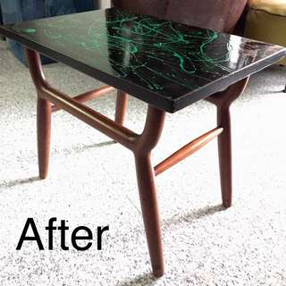 Upcycled Vintage 60's Side Table.