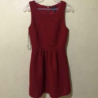 F21 red dress