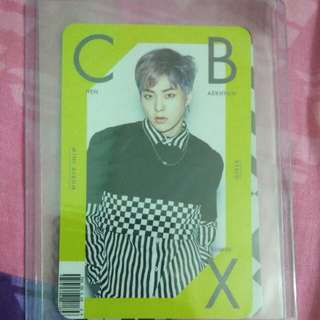 Xiumin CBX girls Photocard
