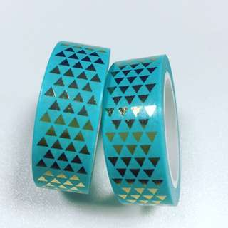 Washi Tape Gold/Blue Foil
