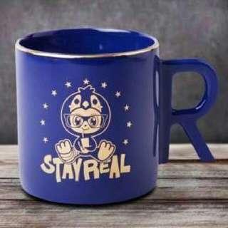 Stayreal企鵝馬克杯-藍