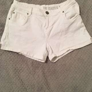 Cotton On White Denim Shorts