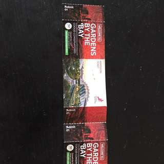 2x Gardens By The Bay Ticket