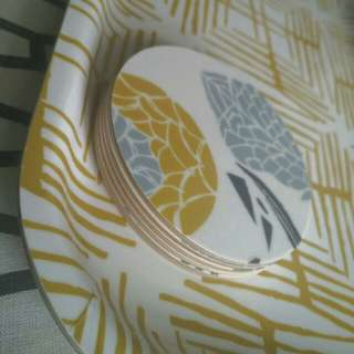 REDUCED Designer tray and coasters