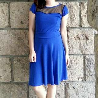 Free Shipping! BLUE MESH DRESS 👗