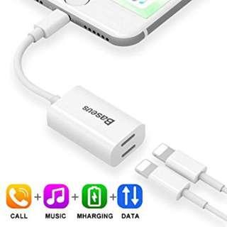 Dual Lightning Splitter for Iphone 7/7 Plus