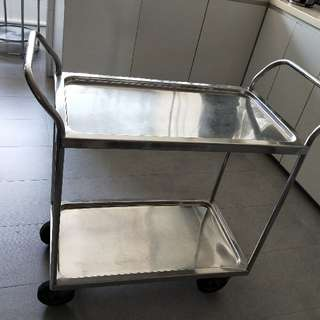 4 Wheels Trolley With Shelving