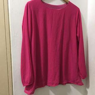 Basic Pink Blouse Size L-XL