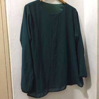 Basic Green Blouse Size L-XL