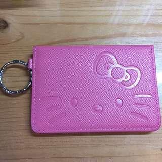 [全新]日本THE KISS Hello Kitty 可愛粉紅色卡片套