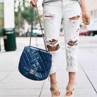 One Teaspoon White Ripped Boyfriend Jeans Size 8