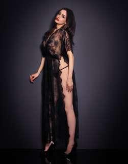 Agent Provocateur Sexy Long Slit Lacey Kimono