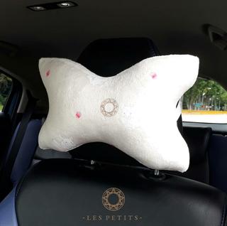 Chinchilla Rose Car Head Pillow
