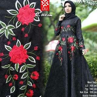 Dress Baju Pesta Hijabers Cantik Mewah