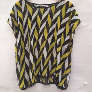 Chic Simple Blouse Geometry