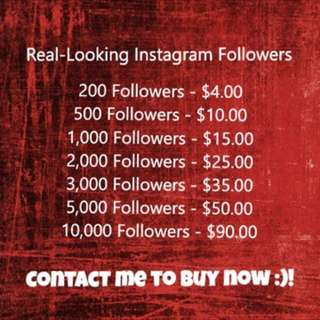 Instagram REAL-Looking Followers for SALE!