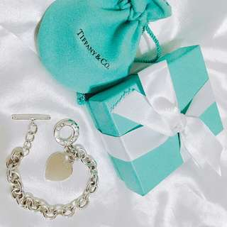 🚚 Tiffany & Co.  純銀T扣愛心牌手鍊