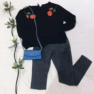 Dorothy Perkins Blue Printed Pants