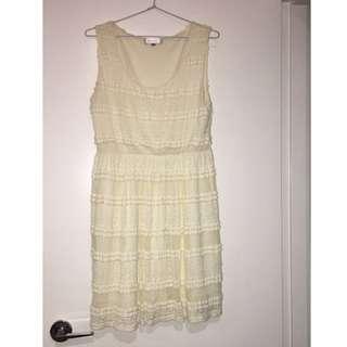 Temt White/ cream lace dress