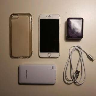 IPhone Gold 6s 16GB (with Unused Acessories)