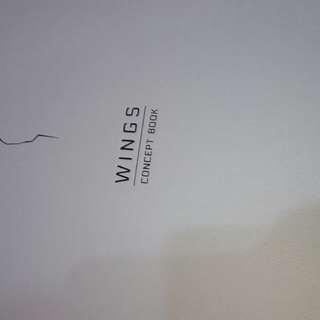 二手 BTS防彈少年團 WINGS概念書