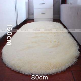 Plush oval bedroom bedside carpet bed blanket full floor living room coffee table cute pad custom。长毛绒椭圆形卧室床边地毯床前毯满铺客厅茶几可爱地垫子定制Promo Price $25 (UP: $ 39)