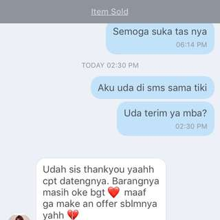 Testi Clutch Yeay! Thanks For Shopping