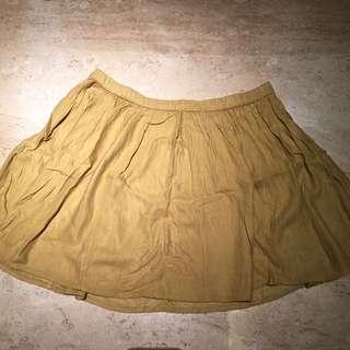 GAP Skirt In Mustard