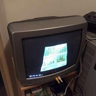 日本產懷舊復古CRT 14吋電視機 FC紅白機 世嘉MD 遊戲卡燒錄卡