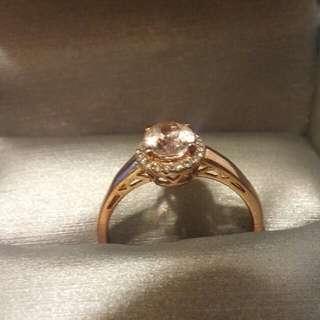 10k Rose Gold Diamond Ring And Morganite