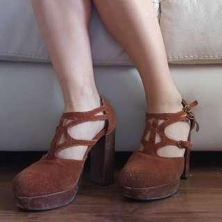 Size 7.5 Suede Heels