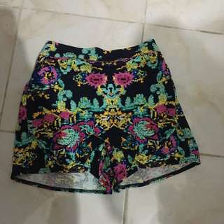 Floral Origami Shorts