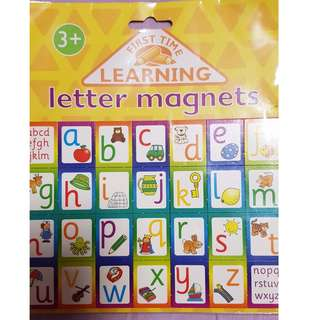 alphabet letter magnet from First Time Learning
