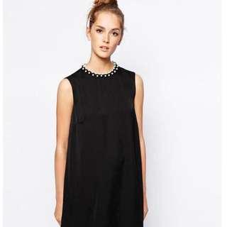 全新英國購回🎁French Connection黑色珍珠領 洋裝