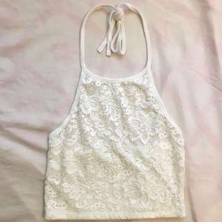 F21 Lace Halter Top