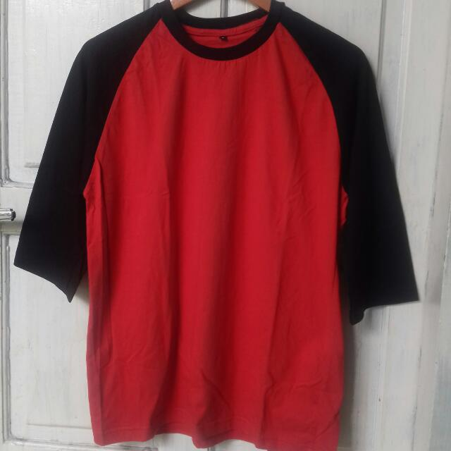 3/4 Red Black Shirt