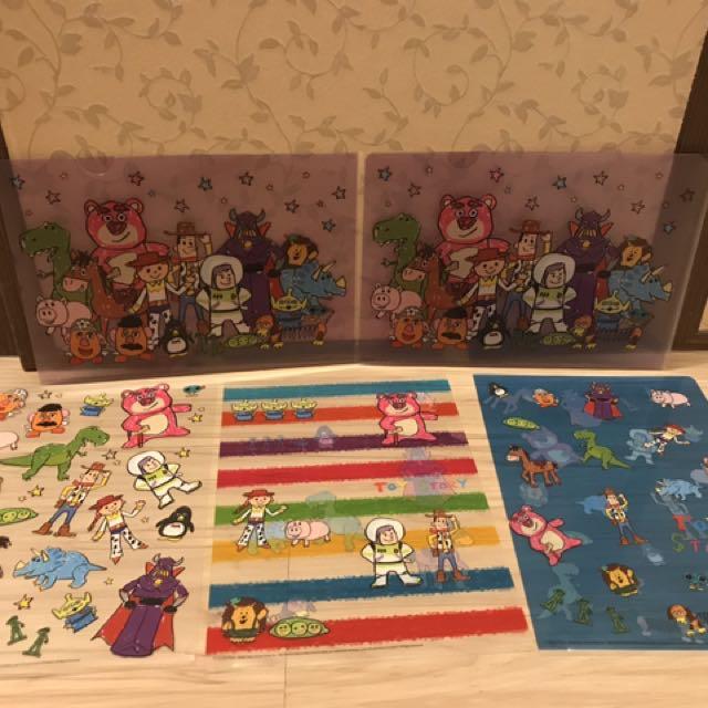 全新 日本迪士尼商店玩具總動員文件夾