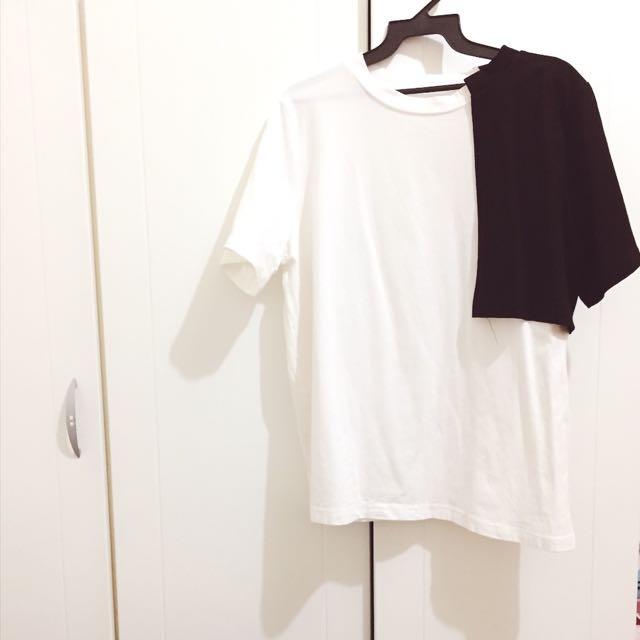 個性黑白造型上衣 T恤