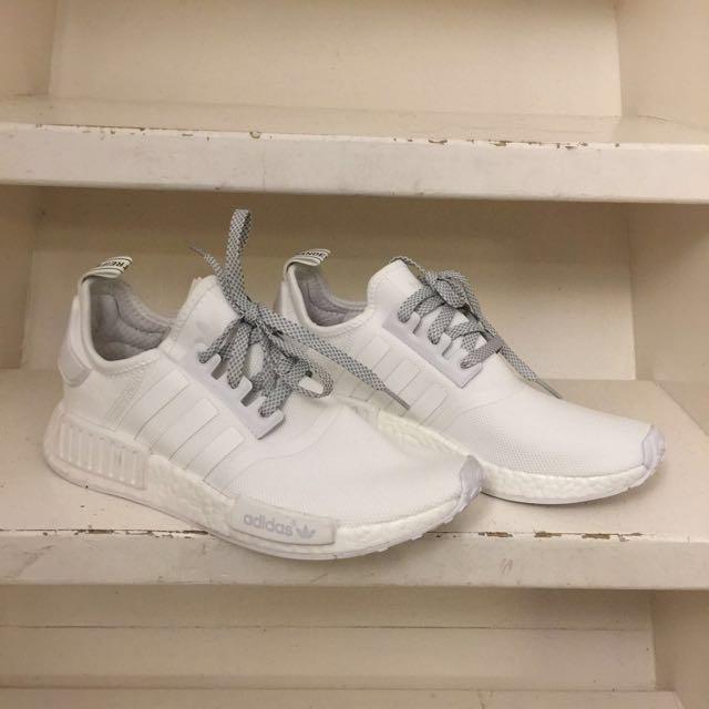 fd325223694 Adidas NMD R1 All-White (100% Original)