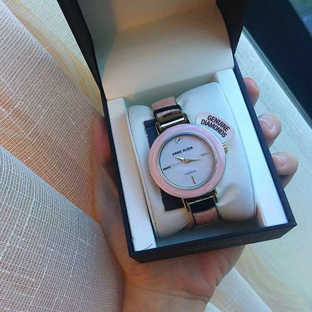 Anne Klein pink ceramic watch
